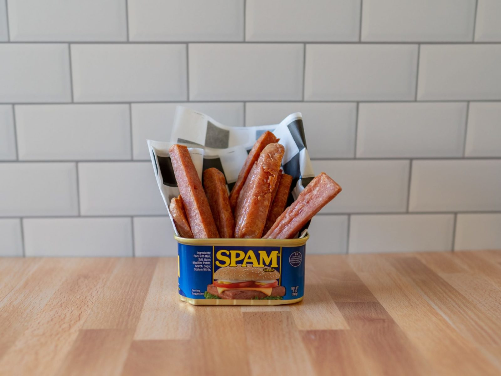Air fried spam